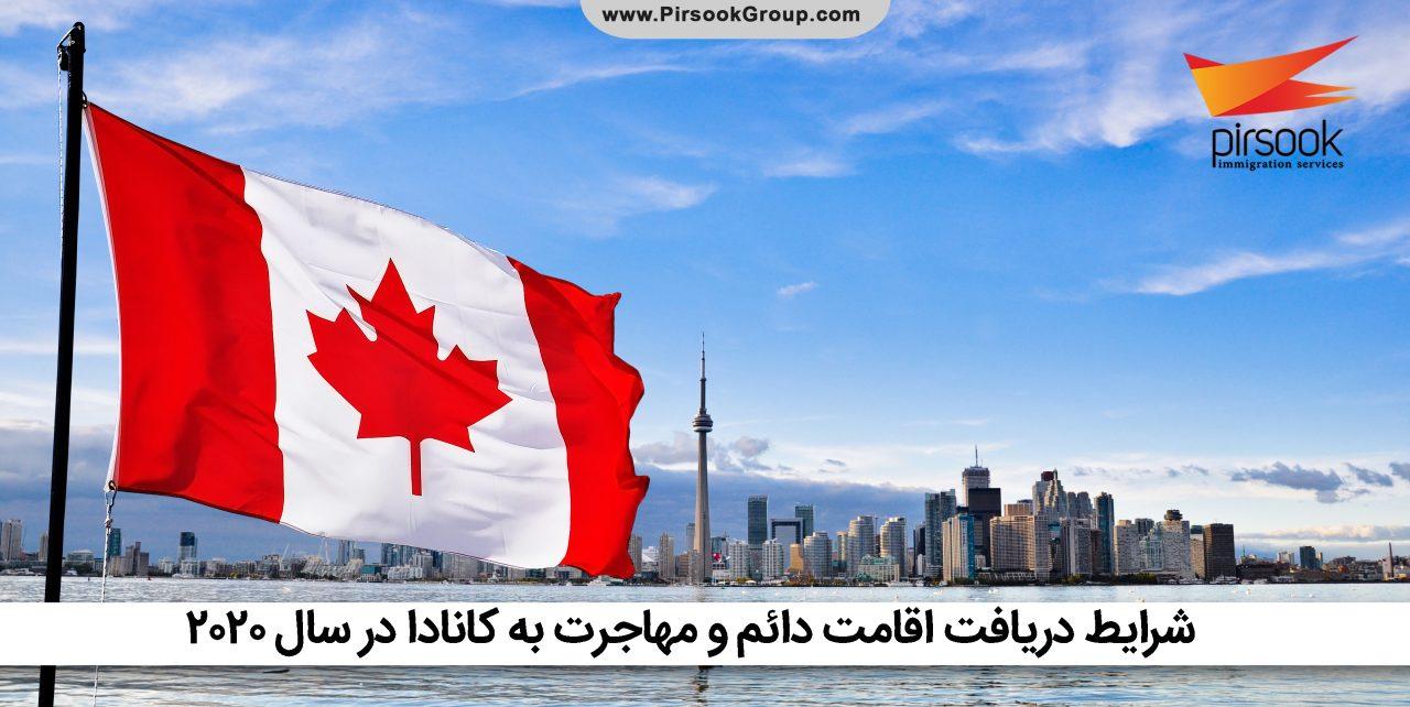 شرایط دریافت اقامت دائم و مهاجرت به کانادا در سال 2020